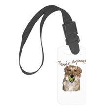 Golden Tennis Anyone Luggage Tag
