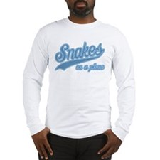 Retro Snakes On A Plane Long Sleeve T-Shirt