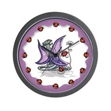 Ladybug Fairy Wall Clock