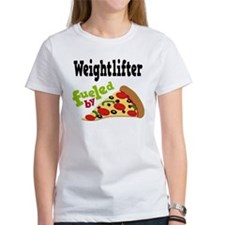 Weightlifter Fueled By Pizza Tee