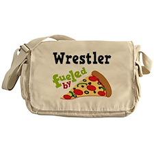 Wrestler Fueled By Pizza Messenger Bag