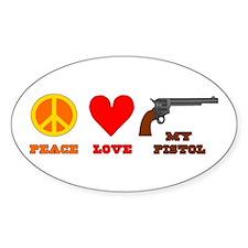Peace Love My Pistol Decal