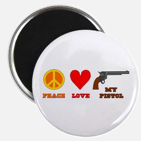 "Peace Love My Pistol 2.25"" Magnet (10 pack)"