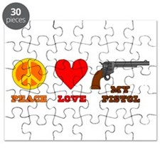 Peace Love My Pistol Puzzle