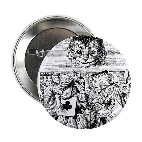 """Vintage Cat Alice in Wonderland 2.25"""" Button (100"""