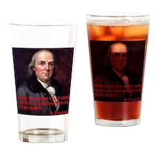 WINE QUOTE™ BEN FRANKLIN Drinking Glass