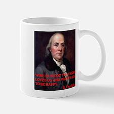 WINE QUOTE™ BEN FRANKLIN Mug