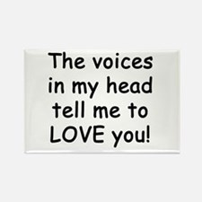 Voices say love you! Rectangle Magnet