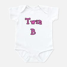 twin a & b -Pink Infant Creeper