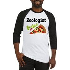 Zoologist Fueled By Pizza Baseball Jersey