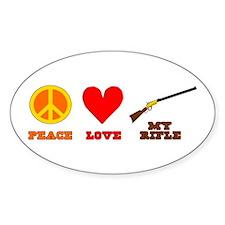 Peace Love My Rifle Decal