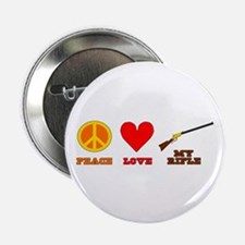 "Peace Love My Rifle 2.25"" Button (100 pack)"