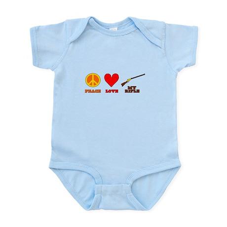 Peace Love My Rifle Infant Bodysuit