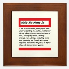 Hello my name is Framed Tile