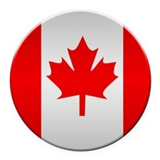 Canadian Button Round Car Magnet