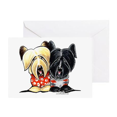 Skye Terrier Sweaters Greeting Card