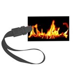 Fire Laptop Skin Large Luggage Tag