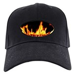 Fire Laptop Skin Black Cap