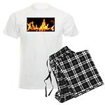 Fire License Plate Men's Light Pajamas