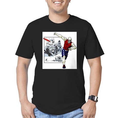 Tomb of Trouble Men's Fitted T-Shirt (dark)
