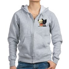 Skye Terrier Sweaters Zip Hoodie