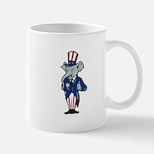 Republican Elephant Mascot Thumbs Up USA Flag Mug