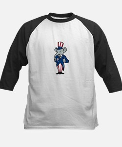 Republican Elephant Mascot Thumbs Up USA Flag Tee