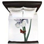 Iris with Butterfly King Duvet