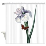 Iris with Butterfly Shower Curtain