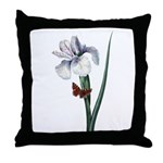 Iris with Butterfly Throw Pillow