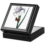 Iris with Butterfly Keepsake Box
