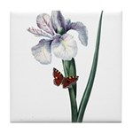 Iris with Butterfly Tile Coaster