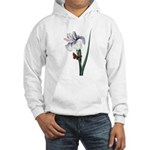Iris with Butterfly Hooded Sweatshirt