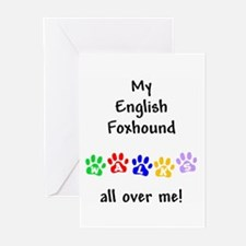English Foxhound Walks Greeting Cards (Package of