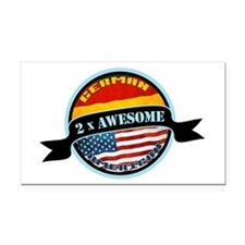 German American 2x Awesome Rectangle Car Magnet