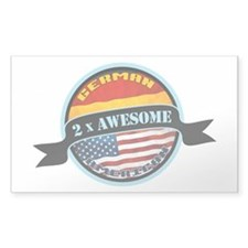 German American 2x Awesome Decal