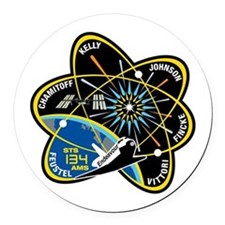 STS-134 Round Car Magnet