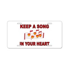 HEART SONG Aluminum License Plate