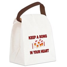 HEART SONG Canvas Lunch Bag