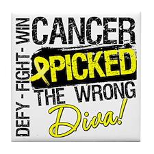 Wrong Diva Sarcoma Cancer Tile Coaster