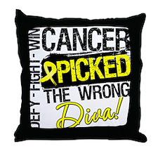 Wrong Diva Sarcoma Cancer Throw Pillow