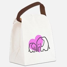 Elephants (1) Canvas Lunch Bag