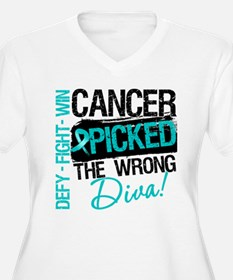 Wrong Diva Ovarian Cancer T-Shirt