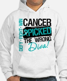 Wrong Diva Ovarian Cancer Hoodie