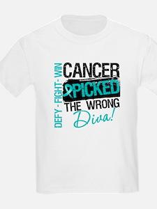 Wrong Diva Ovarian Cancer T-Shirt