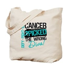Wrong Diva Ovarian Cancer Tote Bag