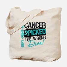 Wrong Diva Ovarian Cancer Tote Bag