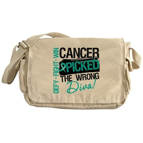 Wrong Diva Ovarian Cancer Messenger Bag