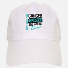 Wrong Diva Ovarian Cancer Baseball Baseball Cap