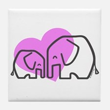Elephants (1) Tile Coaster